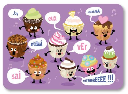 illustration de cupcakes