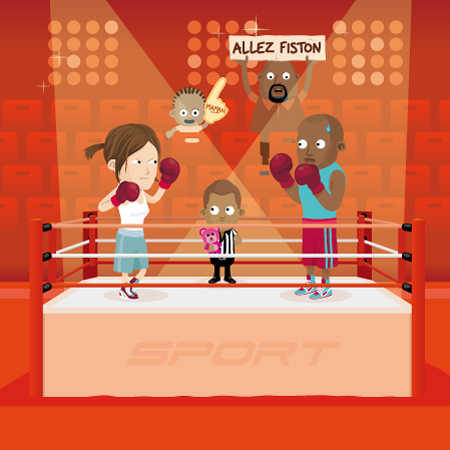 illustration de boxe