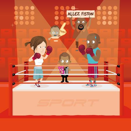 illustration de boxe