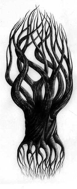 Croquis d 39 arbre r my tornior illustrateur freelance - Croquis arbre ...