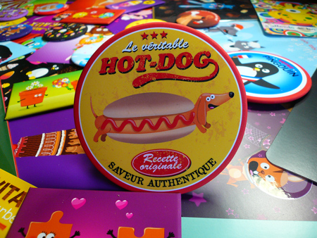 illustration de magnet hotdog