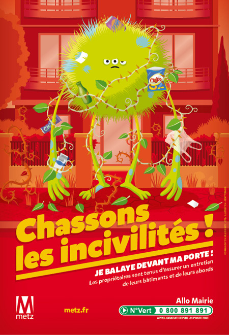 illustration de affiche monstre abords