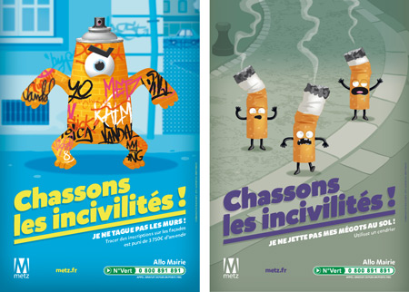 illustration de affiche monstre grafitis