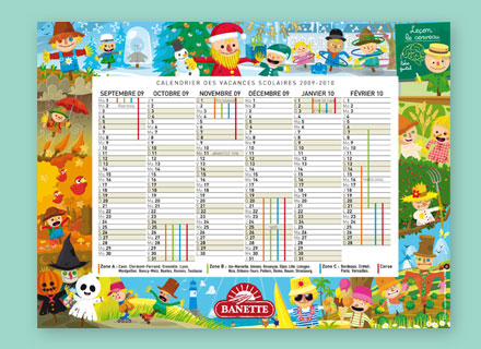 illustration de calendrier scolaire