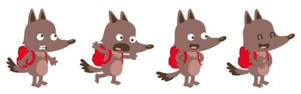 illustration jeunesse de loup