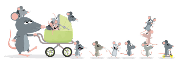 illustration jeunesse de souris