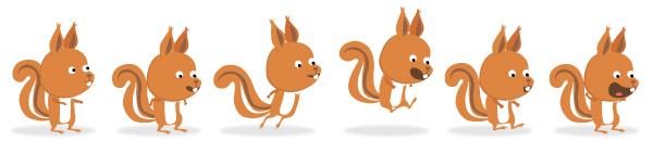 illustration jeunesse d'écureuil