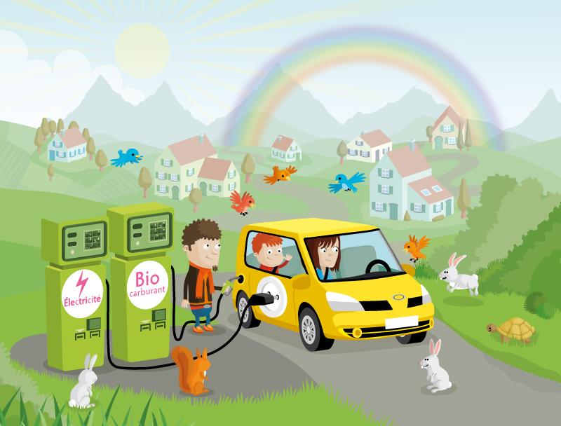illustration de voiture propre