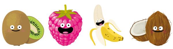 illustration jeunesse de fruits
