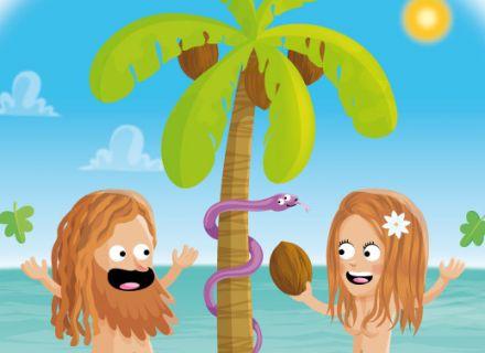 dessin d'humour de Adam et Eve