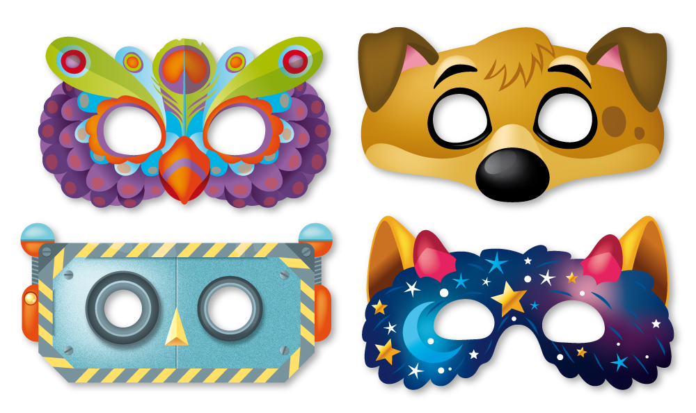illustration de masques