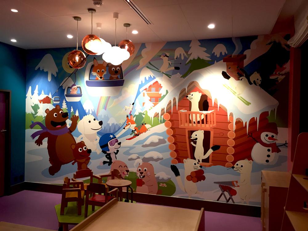 illustration décorative de fresque murale