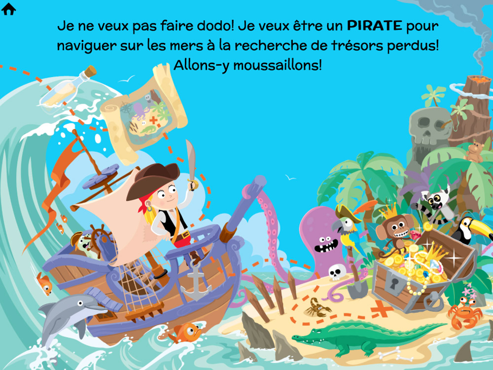 illustration d'ile au trésor de pirate