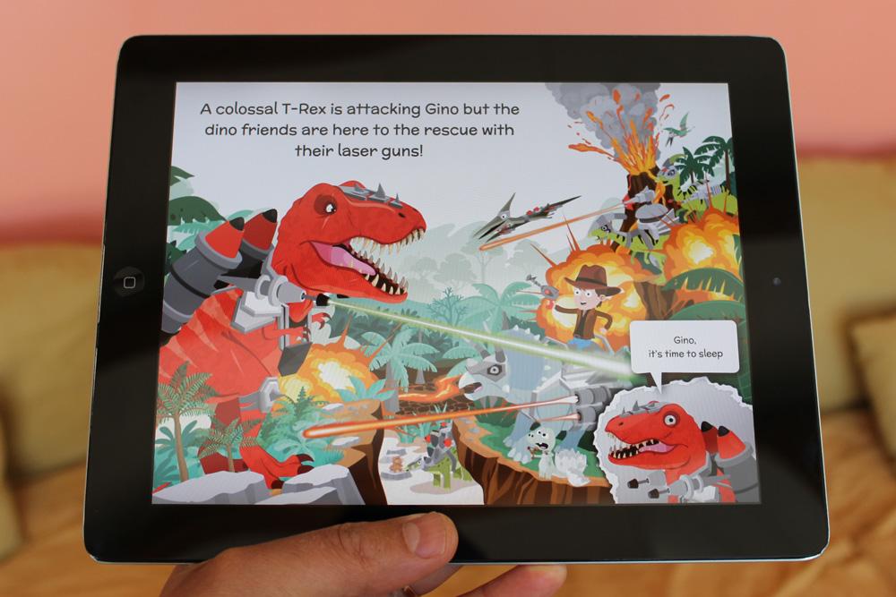 illustration de t-rex et de dinosaures