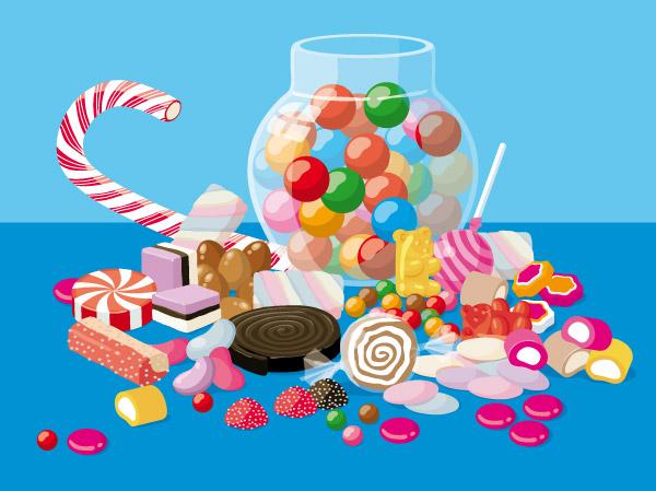 illustration jeunesse de bonbons