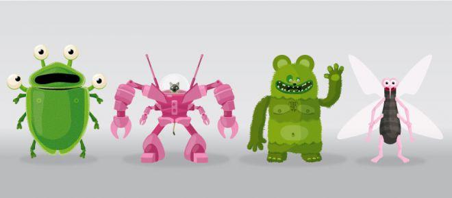 character design - illustration de monstres