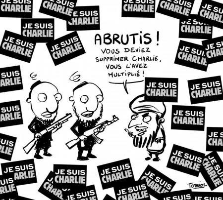dessin en hommage à Charlie Hebdo