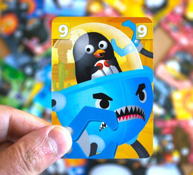 carte de jeu Manchots Barjots