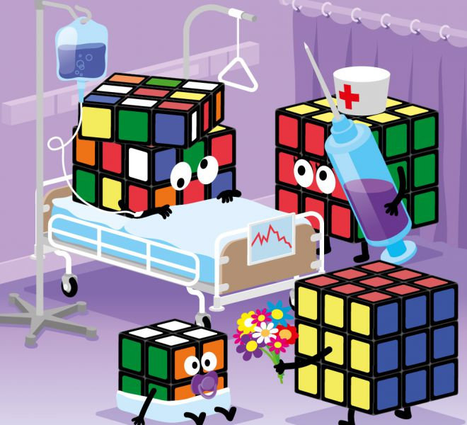 rubiks cube cartoon