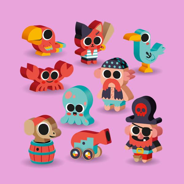 illustrations de jouets bébé