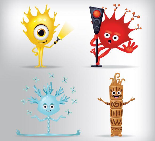 création de mascottes sur le thème des Sciences Cognitives