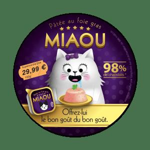 dessin humoristique d'une fausse publicité pour de la pâté pour chat