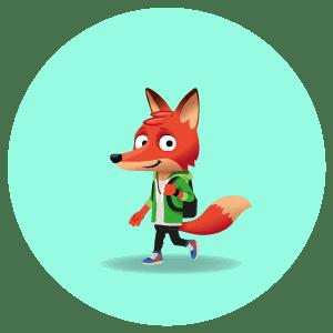 dessin d'une mascotte renard
